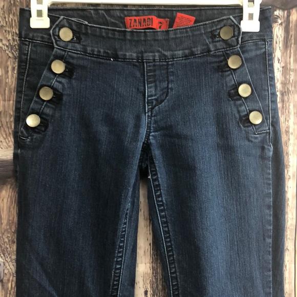 Zana Di Denim - Zani Di 7 side button flare jeans